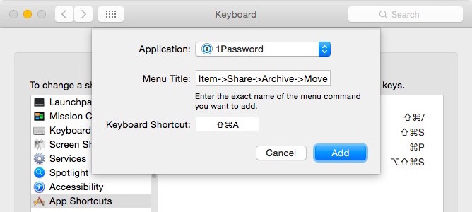 Make Keyboard Shortcuts for Two Menu Items with the Same Name