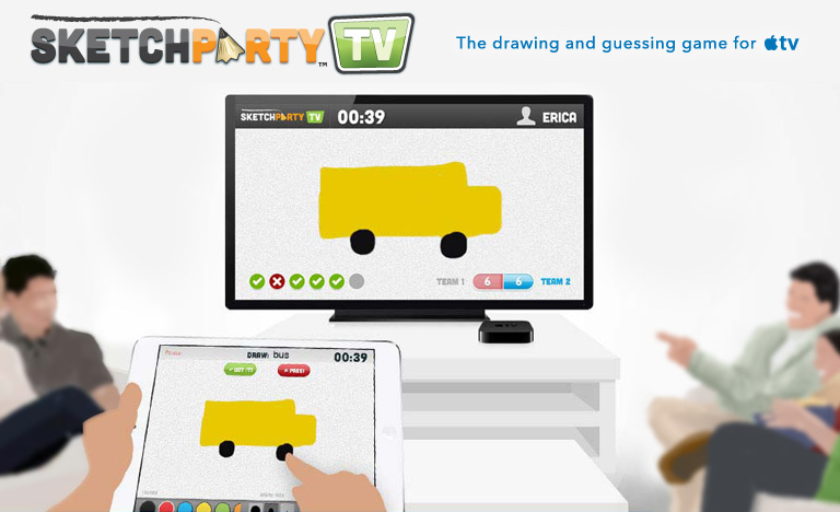 Sketchparty Tv The Fun Fast Drawing And Guessing Game For Apple Tv
