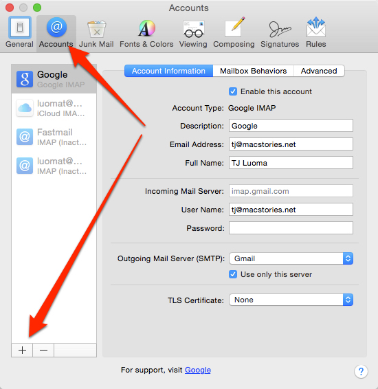 How to Configure Gmail with OS X Yosemite Mail - MacStories